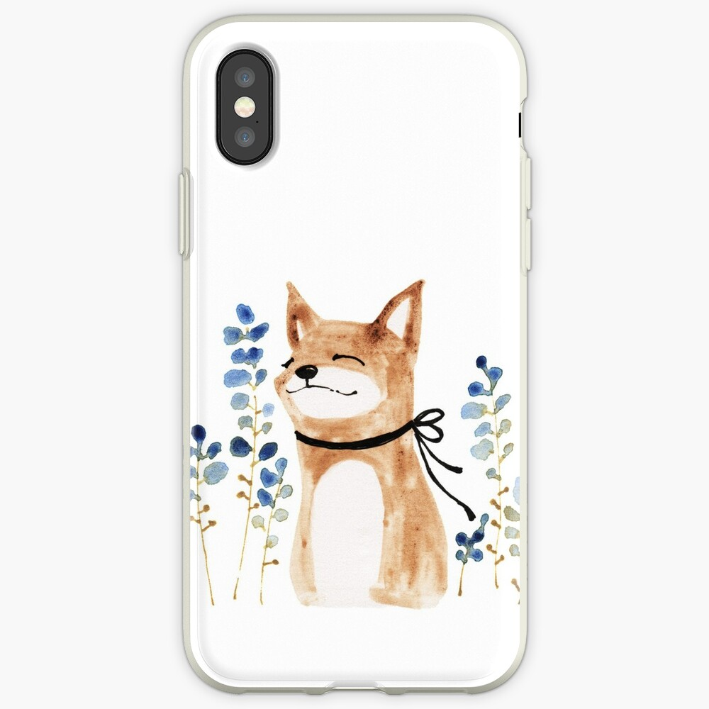 Fox and Flower iPhone Case & Cover