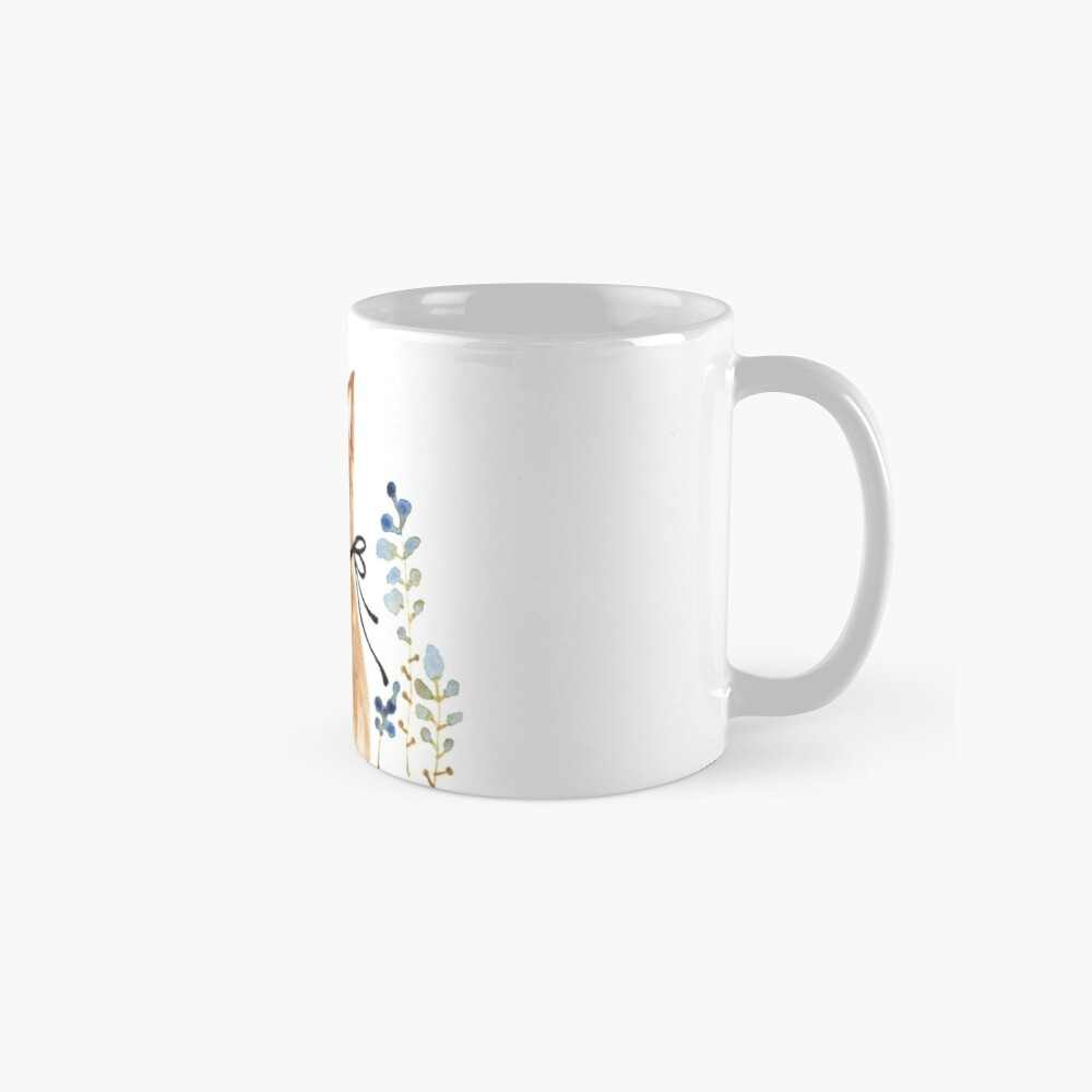 Fox and Flower Mug