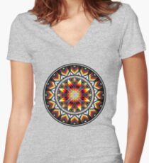 Sacred Places Red Women's Fitted V-Neck T-Shirt