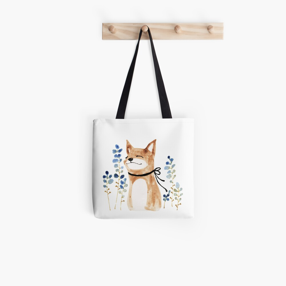 Fox and Flower Tote Bag