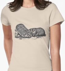 Illustration of the american badger Women's Fitted T-Shirt