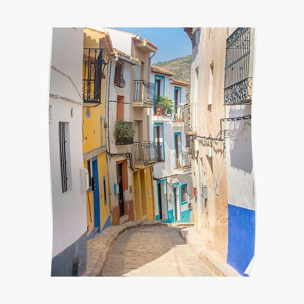 Finistrat narrow street Poster