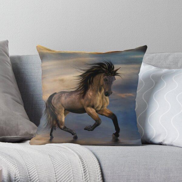 Cosmic .. Wild Stallion Throw Pillow