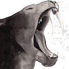 « Sumi-e Smilodon » par Threeleaves