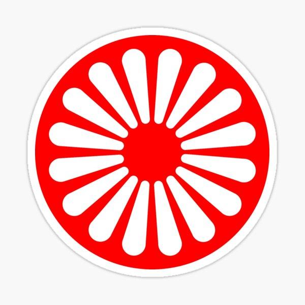 símbolo de bandera gitana Pegatina