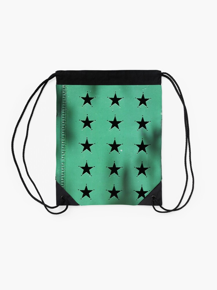 Alternate view of Green door - 21 stars Drawstring Bag