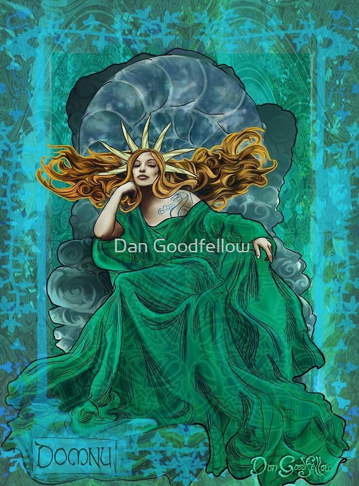 Celtic Goddess - Domnu by Dan Goodfellow