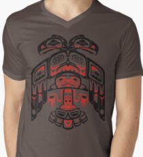 Haida - With Respect Mens V-Neck T-Shirt