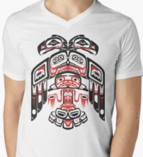 Haida - With Respect Mens V-Neck T-Shirt