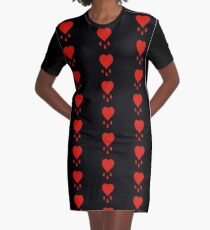 Pirate's Bloody Heart Graphic T-Shirt Dress