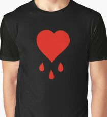 Pirate's Bloody Heart Graphic T-Shirt