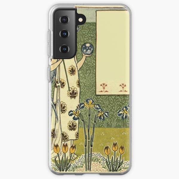 Vintage Arts and Crafts Illustration Painting Samsung Galaxy Soft Case