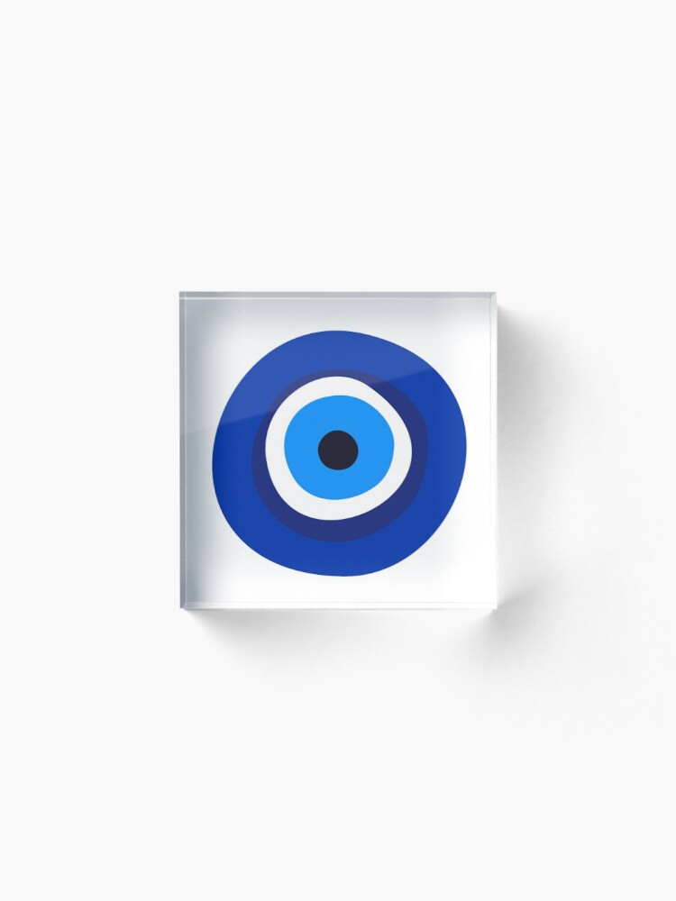 Alternate view of evil eye symbol  Acrylic Block