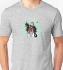 A Scottish lady riding a Clydesdale while playing the ukulele Unisex T-Shirt