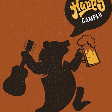 Happy Guitar Camper  by 1001designs