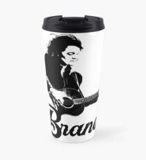 Brandi - Black Stencil Travel Mug