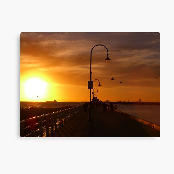 St Kilda Pier Sunset Canvas Print