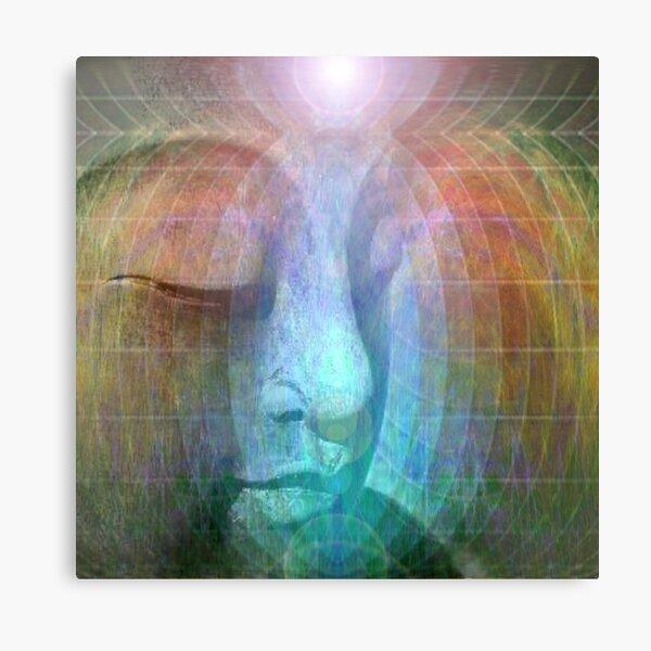Rainbow buddha Metal Print