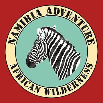 Namibia Adventure Africa Zebra Shirt by Juttas-Shirts