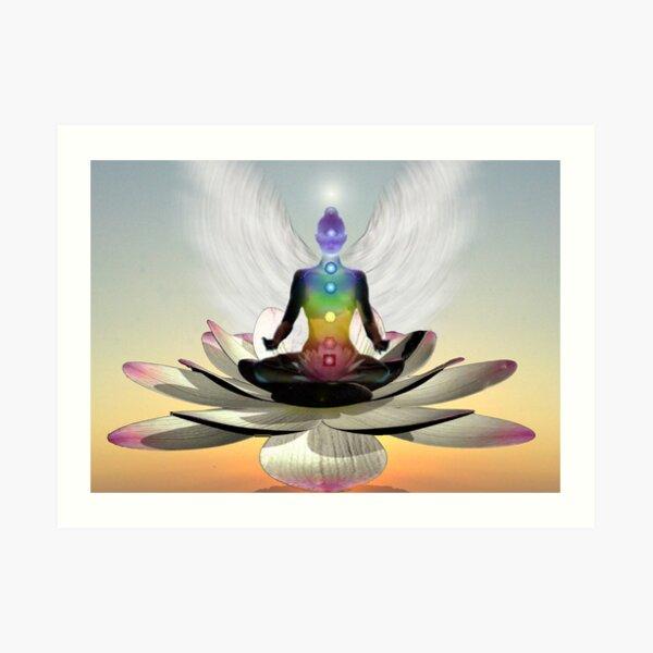 Lotus chakra angel Art Print
