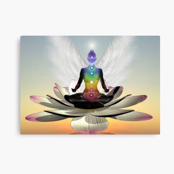 Lotus chakra angel Canvas Print