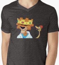 King and hiss snake T-Shirt mit V-Ausschnitt für Männer