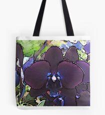 Deep Purple Orchid Artwork Tote Bag