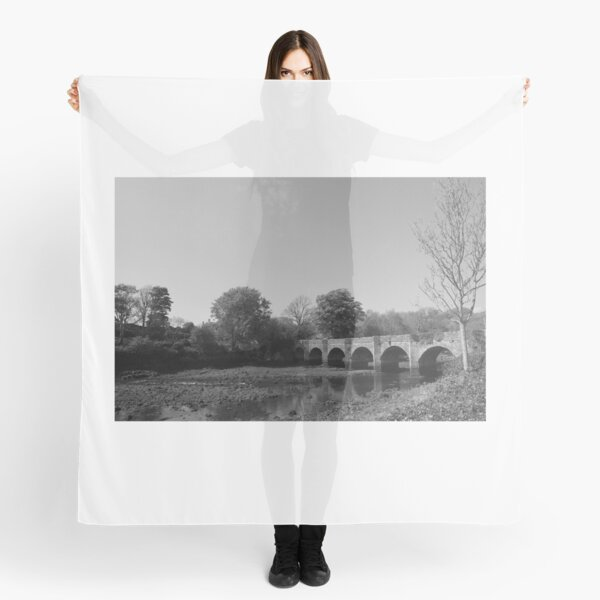 River Bed Buncrana Donegal Ireland bw Scarf