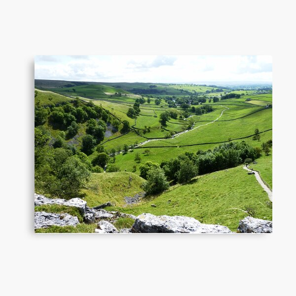 View From The Top Of Malham Cove #2 Canvas Print