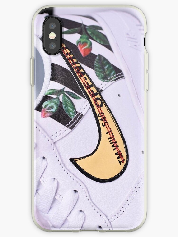 the latest 270ae cd24f 'off white x shoes air force 1 low flower' iPhone Case by CarrollWilker