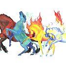 Elemental Horses by RavensLanding