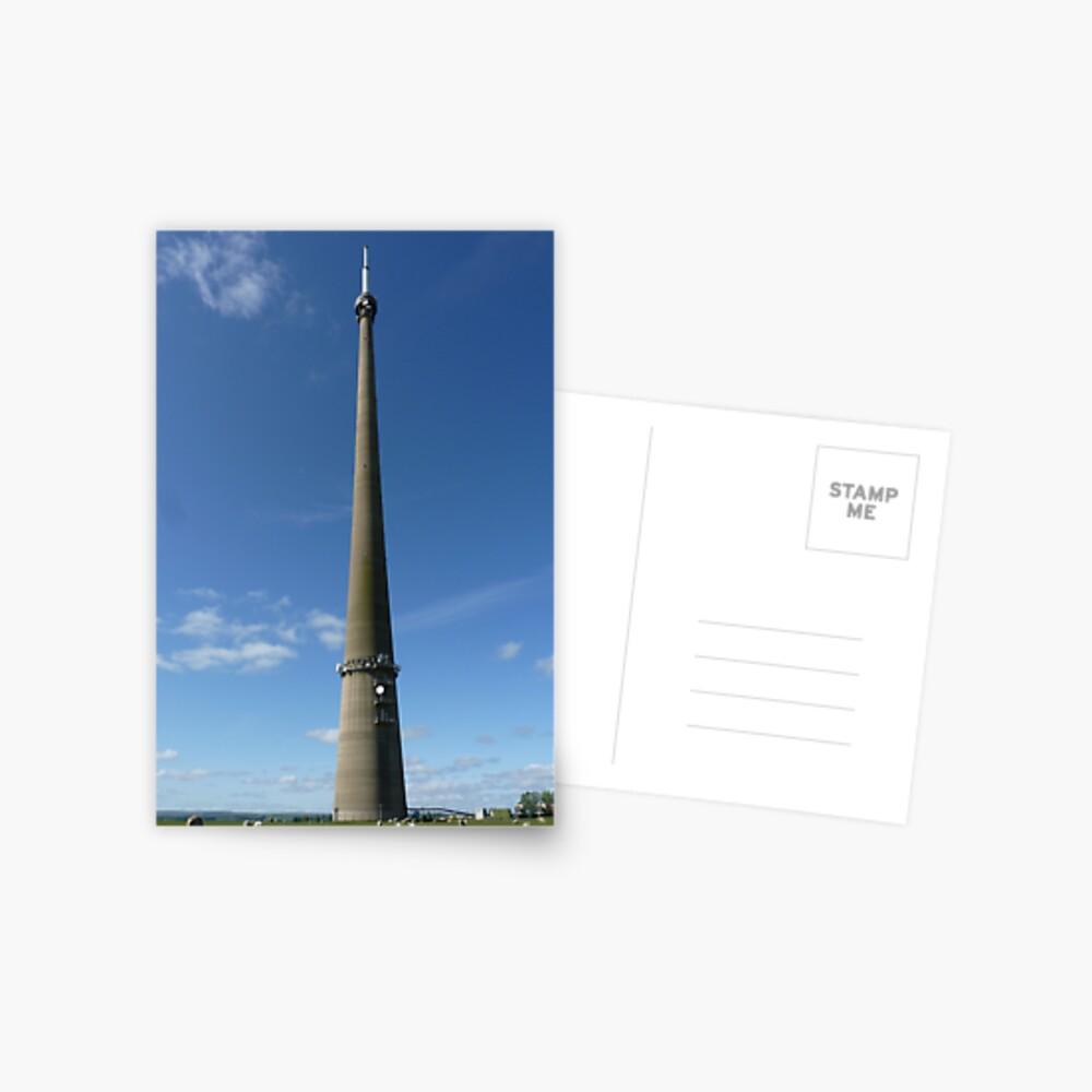 Emley Moor Transmitting Station Postcard