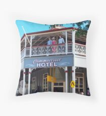 Commercial Hotel Boonah Throw Pillow