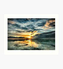 Sunset over the Reef - Northwest Island Art Print