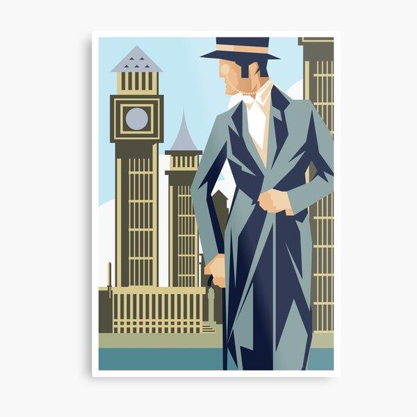 Vintage Art Deco London Gentleman Metal Print