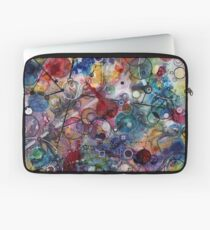 Portals, ink and mixed media on paper composite panel Laptop Sleeve