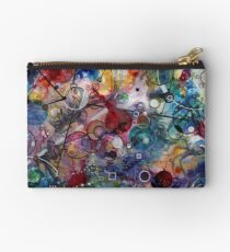Portals, ink and mixed media on paper composite panel Zipper Pouch