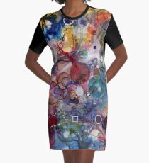 Portals, ink and mixed media on paper composite panel Graphic T-Shirt Dress