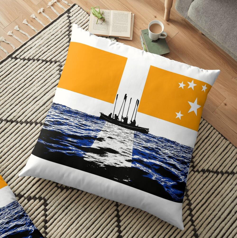Oars up Scillies! Floor Pillow