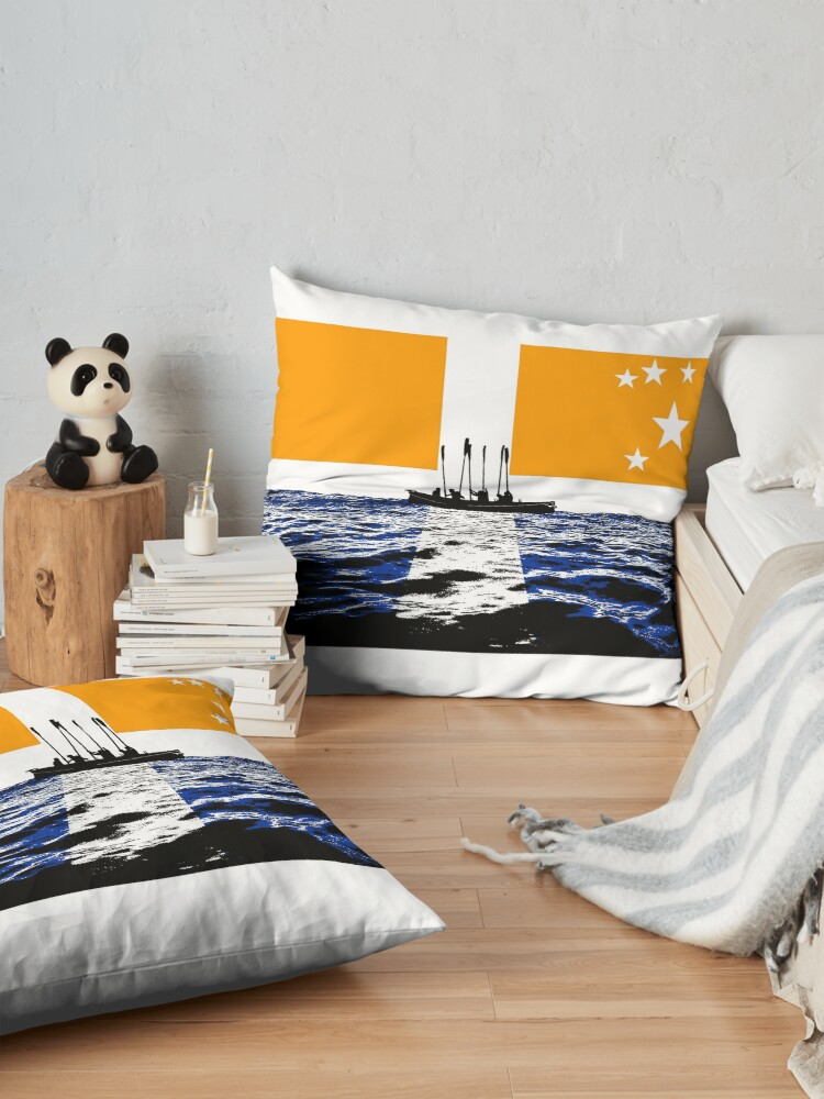 Alternate view of Oars up Scillies! Floor Pillow