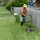 Mowing The Lawn by PhoenixArt