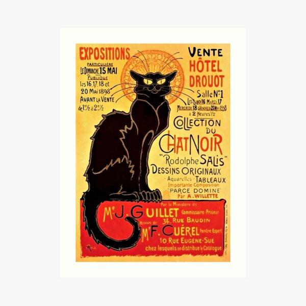 Le Chat Noir, Exposition particulière - 1896 Art Print