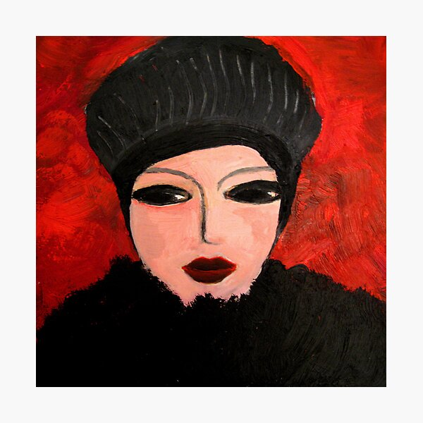 Woman in black Photographic Print