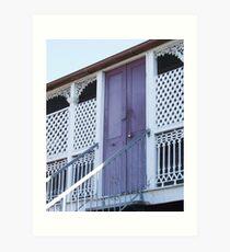 The lilac door Art Print