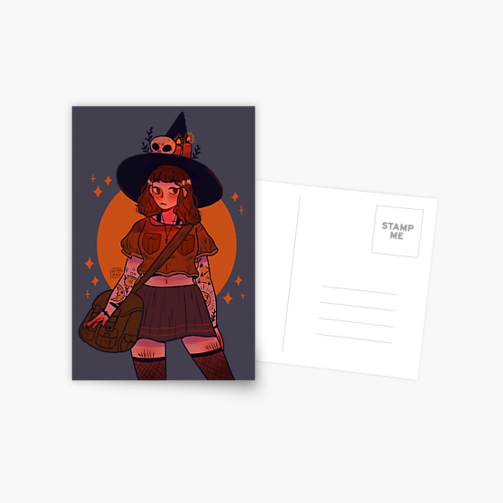 Moon witch Postcard