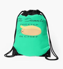 The Donald  Twitter In Chief Drawstring Bag