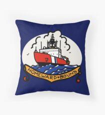 Coast Guard Polar Icebreaker Homeward Bound  Throw Pillow