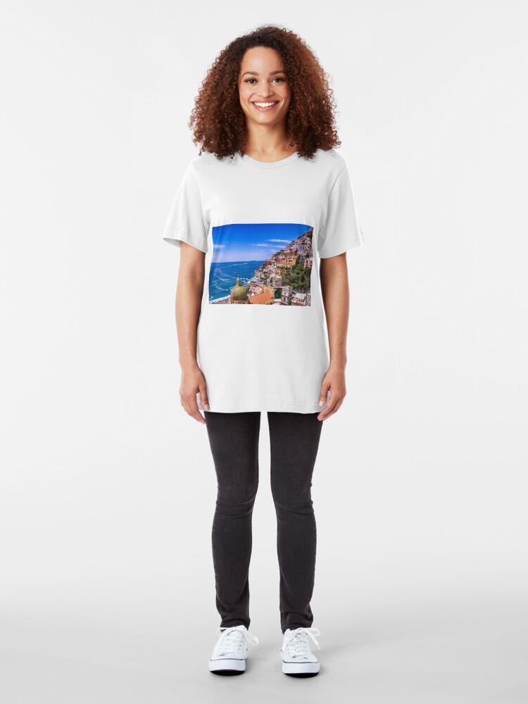 Alternative Ansicht von Liebe von Positano Italien Slim Fit T-Shirt