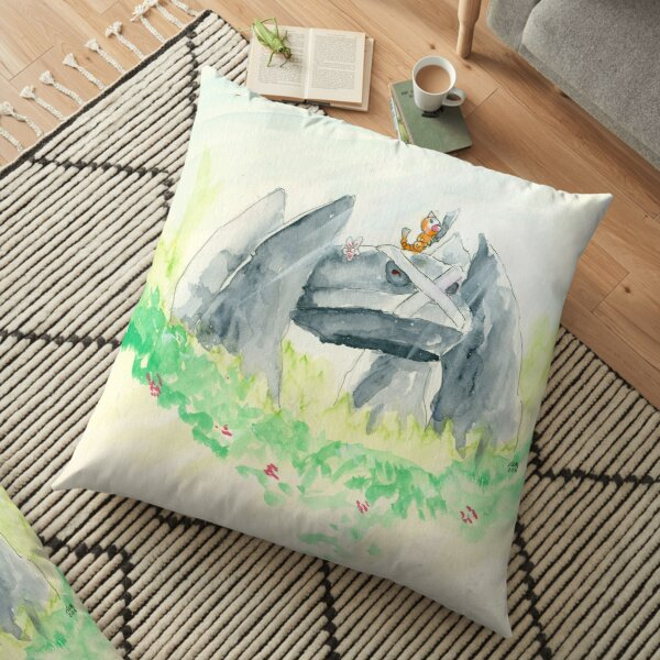 Weedle and Metagross on Guard Duty Floor Pillow