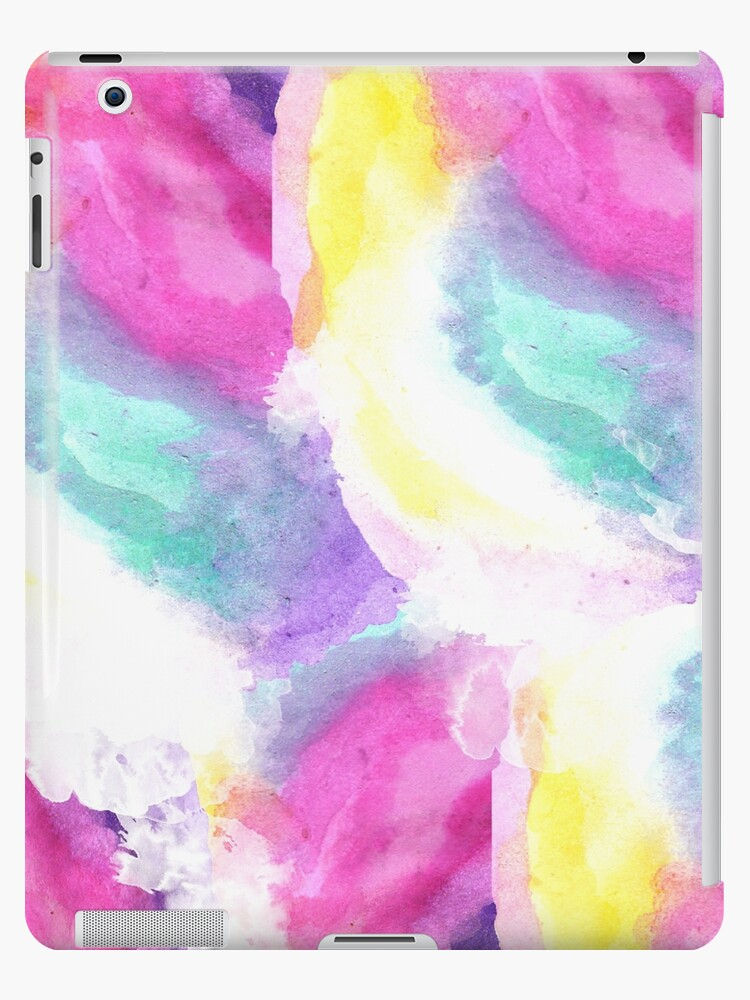 7c866ea51fac1 'Girly bright pastel watercolor brush strokes' iPad Case/Skin by GirlyTrend